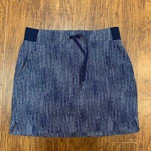 Athleta navy blue drawstring waist mini skirt 2